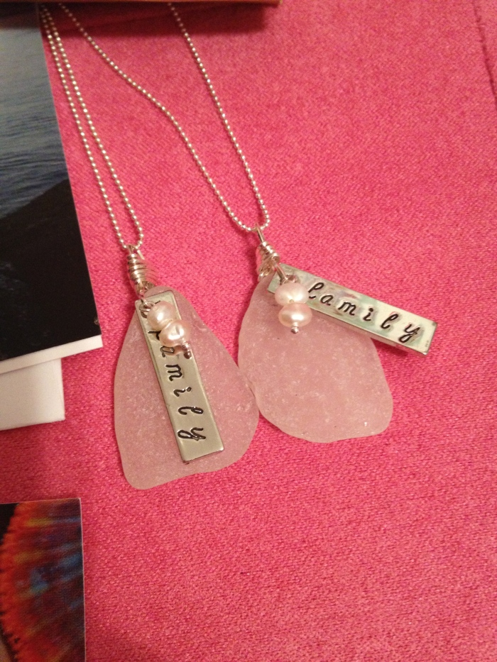 "A gift for Mei Li and her foster mom. ""Family necklaces"""