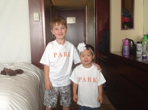 Sporting their school shirts for a day at the Safari Park!